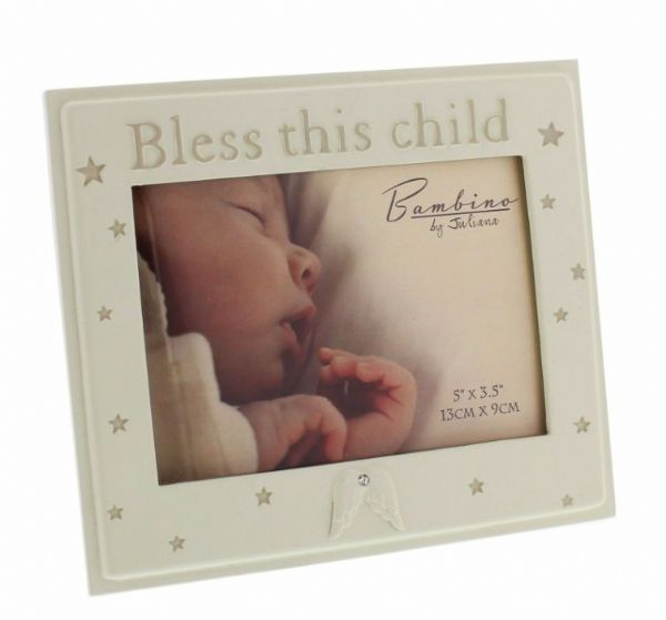 Bambino Bless This Child Photo Frame